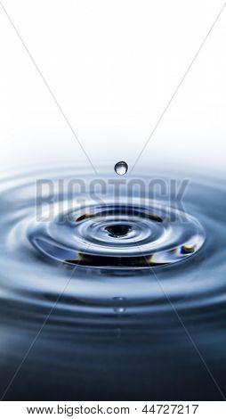 Macro shot of water circles