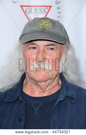 LOS ANGELES - APR 13:  David Crosby arrives at the Light Up The Blues Concert Benefitting Autism Speaks at the Club Nokia on April 13, 2013 in Los Angeles, CA