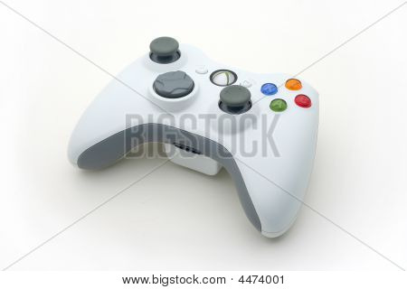 Isolated White Video Game Controller