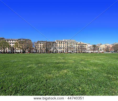 Spianada square of Corfu, Greece