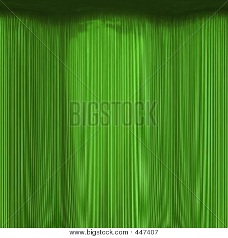 Emerald Curtain Abstract