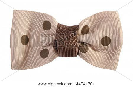 Dotted bow tie beige with brown spots