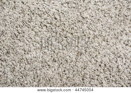 Closeup Beige Fluffy Carpet