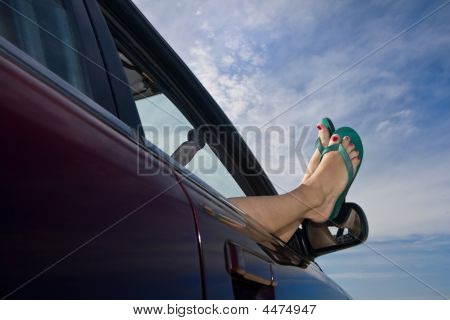 Flip Flops Out The Car Window