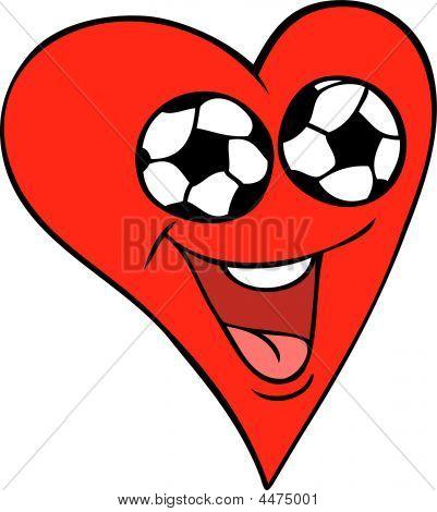 Soccer Fan Heart