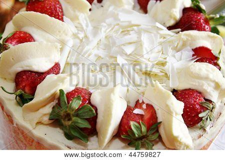 Top of strawberry shortcake