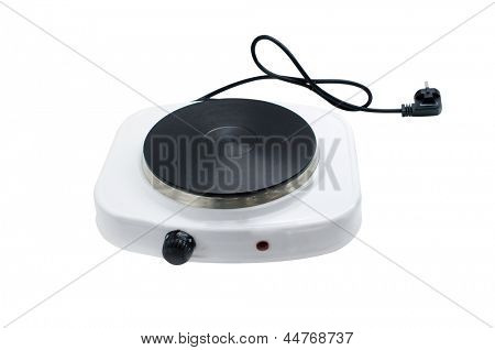 one-hotplate electric cooker under the light background