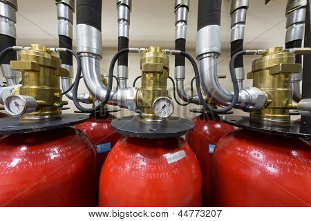 Industrial fire extinguishing system.