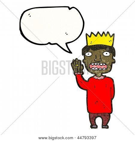 cartoon prince taking oath