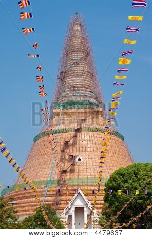 The Repairing Of The Pagoda.