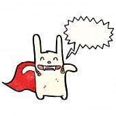 cartoon vampire bunny rabbit poster