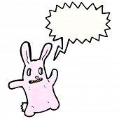 crazy spooky bunny rabbit cartoon poster