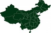There is a map of China country poster