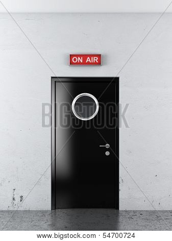 door to studio