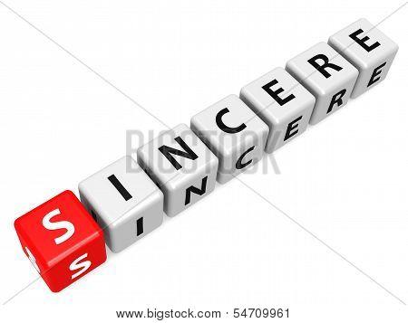 Sincere buzzword