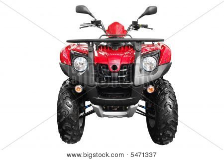 Front View Of Atv Isolated