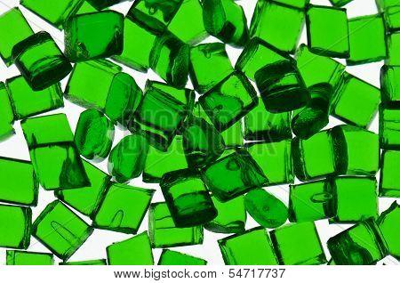 Green transparent polymer resin