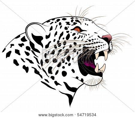 Leopard, tribal tattoo