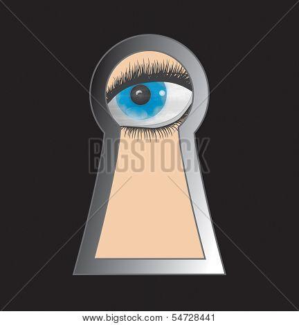 Peek Through Keyhole
