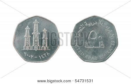 50 United Arab Emirates Fils Coin