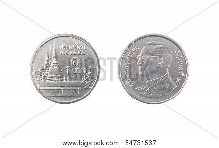One Thai Baht Coin