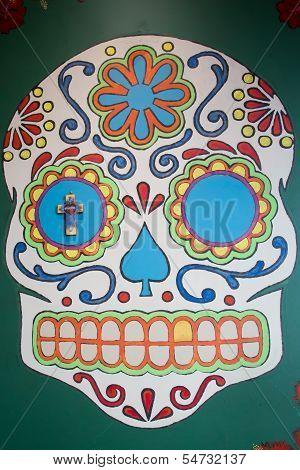 Skull Mural in St. Thomas