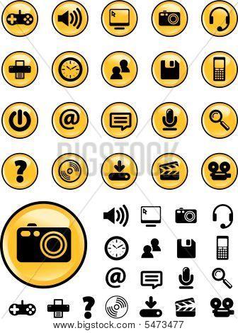 Yellow Media Icons