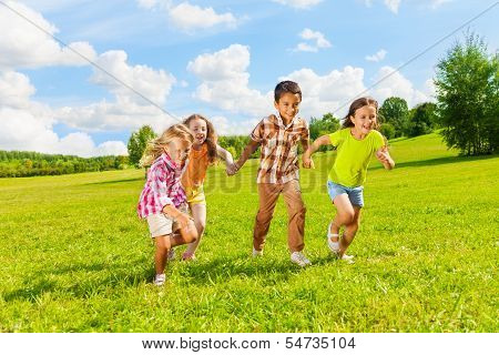 6 ,7 Years Old Kids Running Together