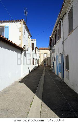 Street at Saintes-Maries-de-la-mer, France
