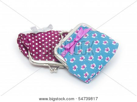 Change Purses Isolated On White Background