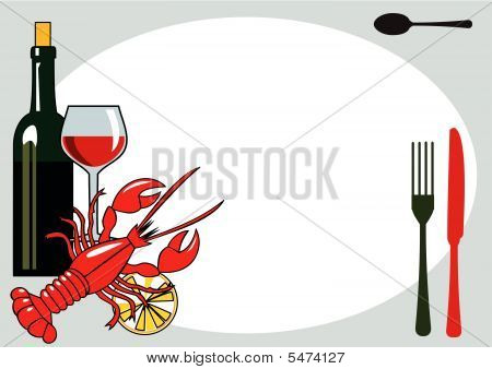 Vector seafood dinner