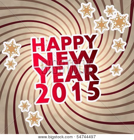 Red Vintage Wooden Happy New Year Symbol