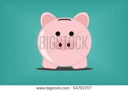 Piggy bank, vector