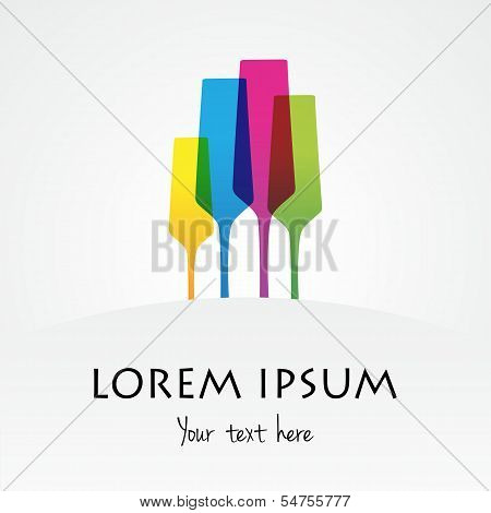 Abstract Champagne Logo Template