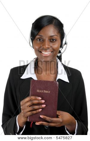 Christian Counsellor Holding A Bible