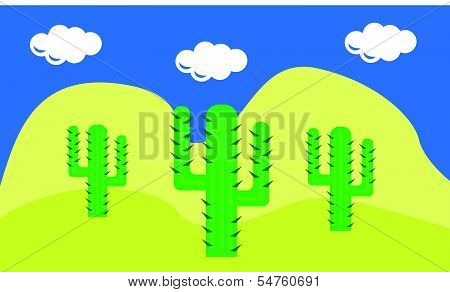 cactuses in the desert