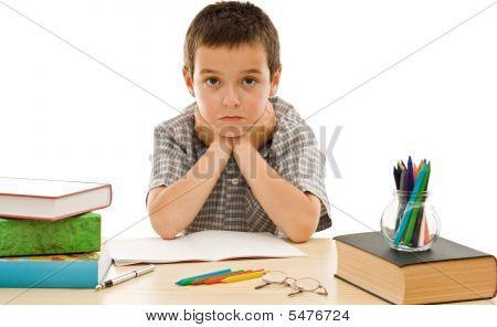Schoolboy Make Grimace