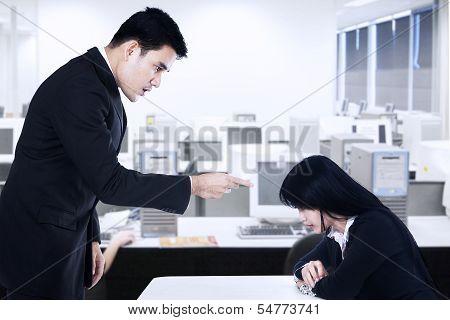 Businessman Is Bullying His Subordinate