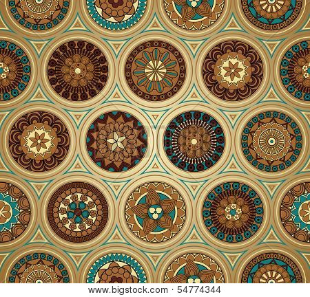 Retro-style background with seamless pattern