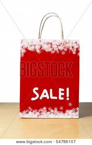 Red Christmas Sale Bag