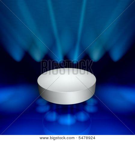 Podium - White With Spotlights