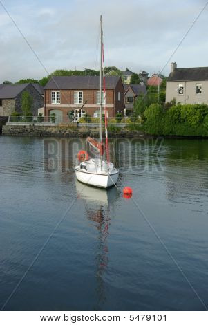 A sailing boat in Kinsale, in Ireland poster