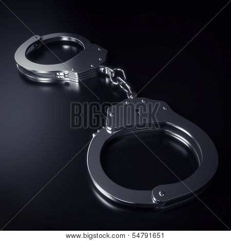 Hand cuffs isolated