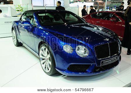 Bkk - Nov 28: Bentley Continental Gtc V8, Luxury Car,on Display At Thailand International Motor Expo