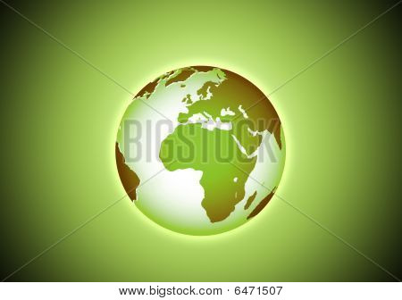 Green Beautiful Earth In The Space