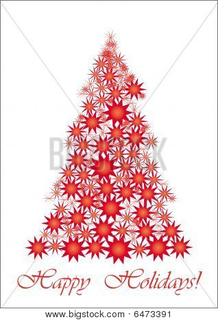 Red Starry Christmas tree