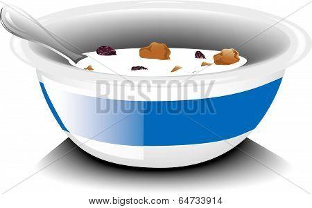 Bran raisin cereal