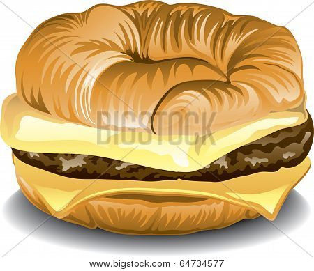 Sausage, Egg and Cheese Croissant