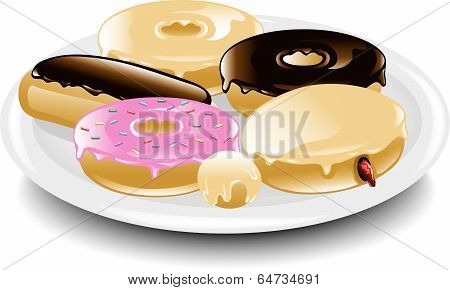 Donuts plate