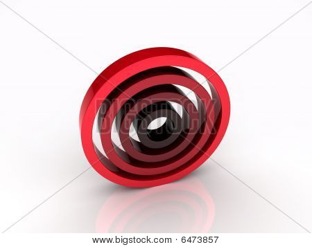 Illustration of abstract red circles (red collection) poster